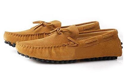 Happyshop (tm) In Pelle Scamosciata Uomo Mocassino Comfort Slip 0n Nappa Mocassino Driving Shoes Terra Gialla