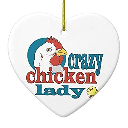 Amazon Com Delia32agnes Cartoon Crazy Chicken Lady Ceramic