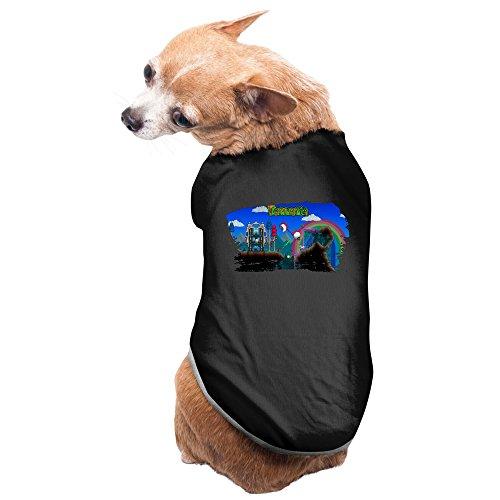 Entertaining Terraria Pet Cotton T-shirts Black