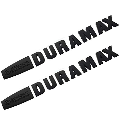 Aimoll 2pcs Allison Duramax Badges Emblems Replacement for Silverado 2500 3500hd (Black 1)