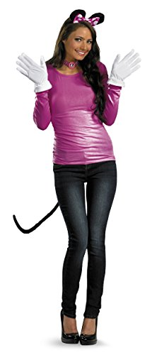 Disguise Disney Mickey Mouse Clubhouse Minnie Mouse Adult Kit, Pink/White/Black, One Size Costume]()