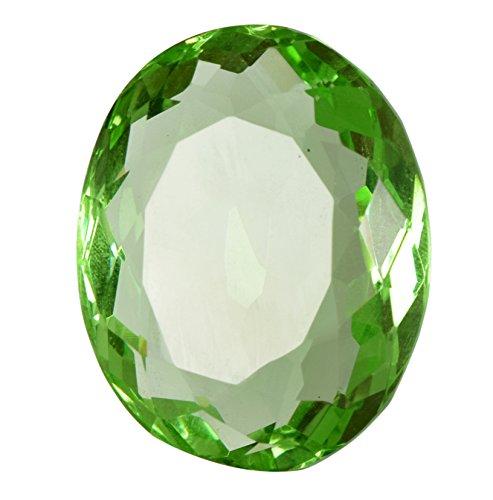 gemhub Shiny Green Amethyst Oval Cut Brazilian Loose Gemstone 54.85 Carat BQ-658