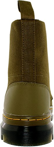 Dr.Martens Womens Combs 8 Eyelet Waxy Canvas Boots Green