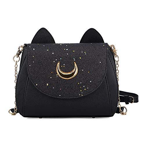 Sunwel Fashion Women Pu Leather Handbag Moon Sailor Cosplay Messenger Goddess Warrior Shoulder Bag