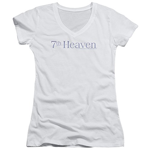 Price comparison product image 7Th Heaven TV Series 7Th Heaven Logo Junior V-Neck T-Shirt Tee