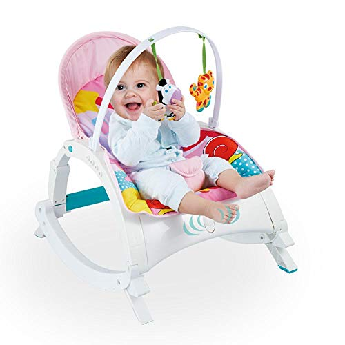 (Yunfeng Baby Bouncer Chairs and Rockers Music Rocking Blue Chair Children's Puzzle Foldable Rocking Chair Baby Shake Soothing Lie)