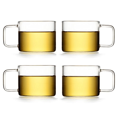 Cheap Dictea – Espresso Cups Shot Glass Coffee Set of 4 – Perfect size for Cappuccinos, Lattes,Tea and More (5.3oz,150ml)