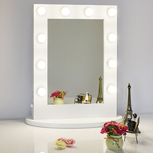 Chende Tabletop Vanity Mirror With Dimmable Light Bulbs