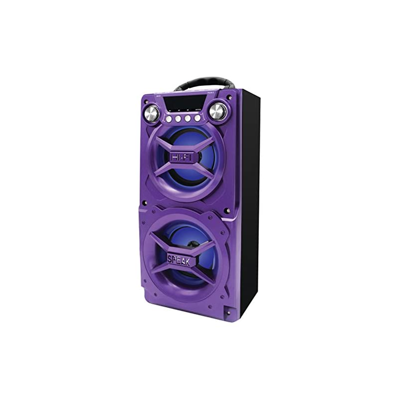 Sylvania SP328-Purple Portable Bluetooth