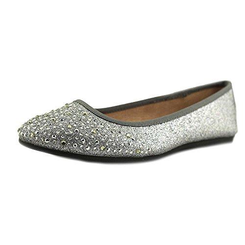 Style & Co. Womens Angelynn Closed Toe Slide Flats Pewter tqLKM4