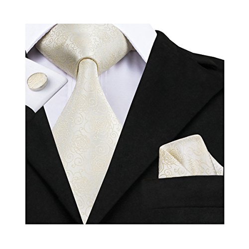 CAOFENVOO Woven Cufflinks Necktie Wedding product image
