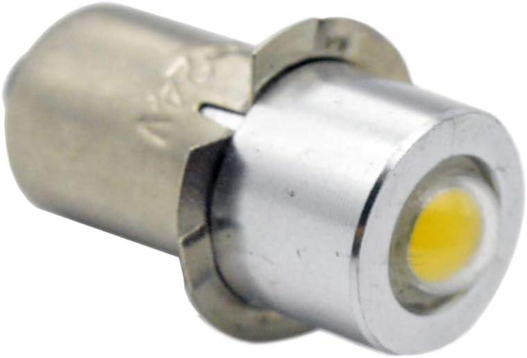 Ruiandsion 2pcs P13.5S LED Flashlight Bulbs 4.5V 1W 6000K White COB 200LM LED Bulb for Torchlight Flashlight Torch Headlight,Non-Polarity