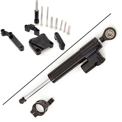 Bar Damper (Rzmmotor Motorcycle CNC Steering Damper Stabilizer Buffer Control Bar With Mounting Bracket Kit Full Set Fit For KAWASAKI EX300 NINJA300 2013-2016)