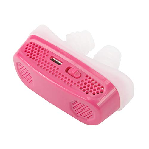 New Version-2 in 1 Anti Snoring Devices - Air Purifier Filter Snoring Solution Nasal Dilator for Ease Breathing Reduce Snoring Sleeping Aid Device for Comfortable Sleep (Pink)