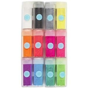 Martha Stewart Crafts Neon Glitter, 12-Pack
