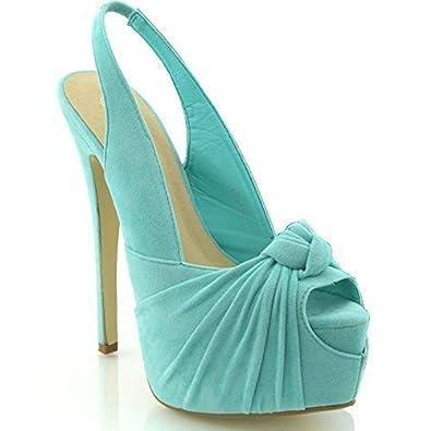 Ladies High Heal Size 8 Teal Shoe
