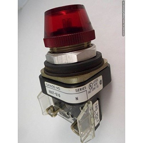 Allen Bradley 800T-Q10 Pilot Light Indicator 120V Full Voltage Red Lamp Lens