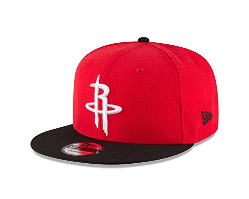 New Era NBA Houston Rockets Adult Men NBA 9Fifty 2Tone Snapback Cap,OSFA,Red