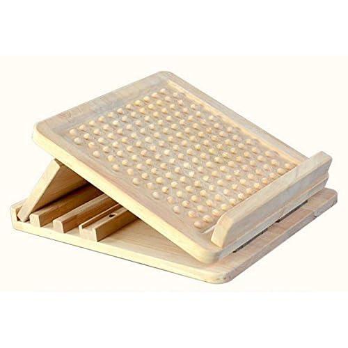 Planche stretch réglable en bois de caoutchouc,fasciite plantaire planche inclinée avec massage acupression