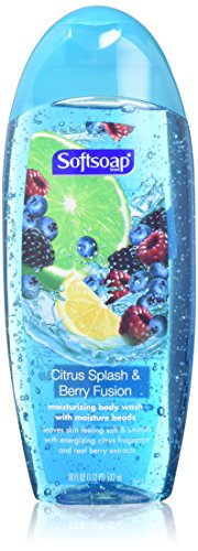 Softsoap Moisturizing Body Wash - Citrus Splash & Berry Fusion - Net Wt. 18 FL OZ (532 mL) Per Bottle - Pack of 2
