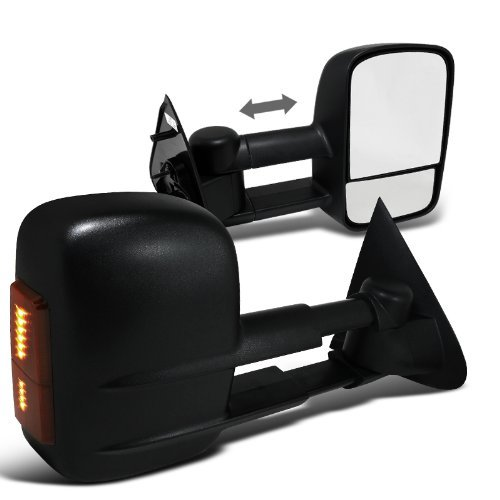 Spec-D Tuning RMX-F15097LED-P-FS Ford F150 Black Led Signal Side Power Towing Mirrors