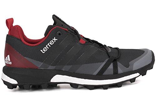 Adidas Outdoor Heren Terrex Agravic Schoenen Donker Grijs / Zwart / Macht Rood