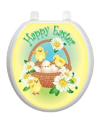 Easter Chicks Toilet Tattoo TT-E712-R Round Bunny Rabbit