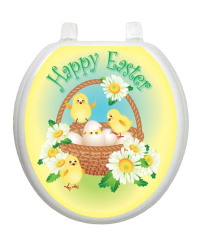 Easter Chicks Toilet Tattoo TT-E712-R Round Bunny Rabbit
