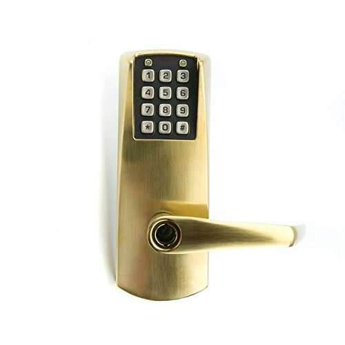 Kaba E-Plex Electronic Keyless Lock, Kaba Cylinder (Schlage ''C'' Keyway) Included, Satin Brass Finish by E-Plex