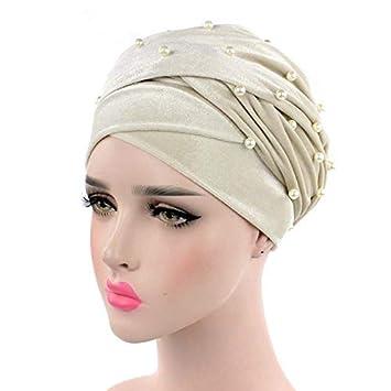AJ® - Diadema de terciopelo para mujer, diseño de cabeza de Hijab, con perlas y tachuelas, extra larga, de terciopelo: Amazon.es: Hogar