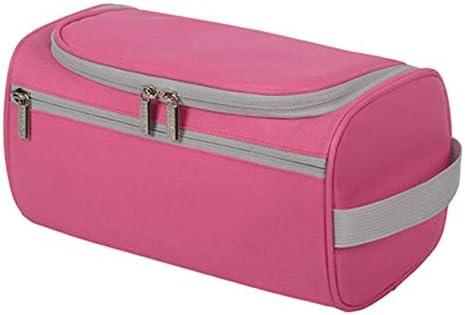 旅行化粧バッグ 旅行のストレージバッグ防水トイレタリーバッグ出張のシンプルラージドライとウェット分離メイクポータブルに アクセサリー用コスメバッグ (色 : Pink, Size : 25x13x13cm)