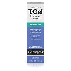Neutrogena T/Gel Therapeutic Stubborn Itch Shampoo with 2% Coal Tar, Anti-Dandruff Treatment with Cooling Menthol for Relief of Itchy Scalp due to Psoriasis & Seborrheic Dermatitis, 4.4 fl. oz