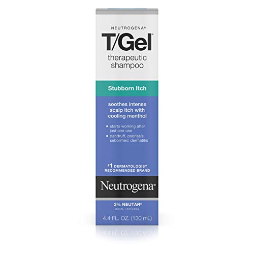 Neutrogena T/Gel Therapeutic Stubborn Itch Shampoo with 2% Coal Tar, Anti-Dandruff Treatment with Cooling Menthol for Relief of Itchy Scalp due to Psoriasis & Seborrheic Dermatitis, 4.4 fl. -