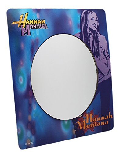 Hannah Montana Light Blue w/Purple Hannah Graphic Background Kids Mirror