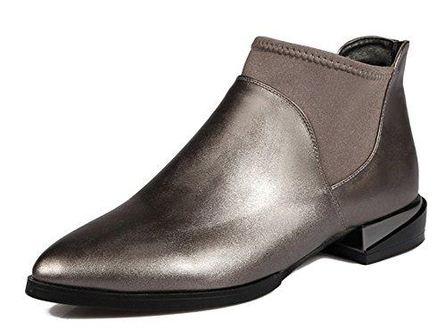 Vestido De Tacón Alto Con Punta En Punta Para Mujer De Estilo Vintage En Botines Zapatos De Tacón Bajo Con Botines