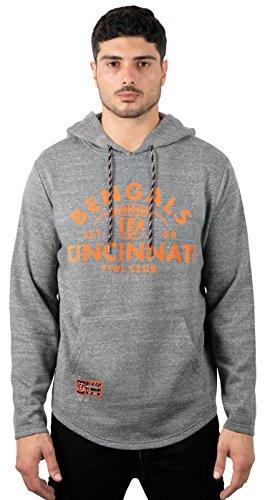 (ICER Brands Adult Men Fleece Hoodie Pullover Sweatshirt Vintage Logo, Gray, Snow, X-Large)