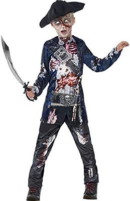 Halloween enia – Disfraz de Pirata de Terror para niños, Deluxe en ...