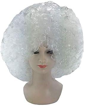 Lote/Conjunto de 3 Piezas - Afro Peluca Gigante Chico Blanco