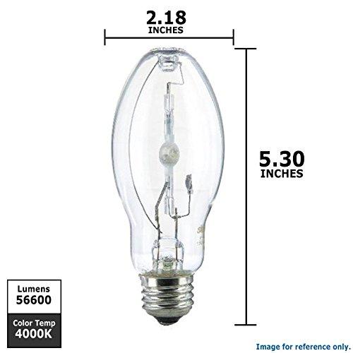 Sunlite MH70/U/MED 70-Watt Metal Halide ED17 Bulb, Medium Base, Clear
