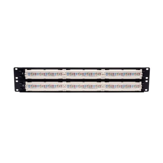 Tripp lite n250-012 12-port cat6 wall-mount vertical 110 patch panel 2 12 port category 6 (cat6/cat5 rj45) vertical wall mount patch panel color coded label on back offers both eia/tia 568a & 568b wiring ports are clearly numbered both on front and back; labels on front enable each port to be named