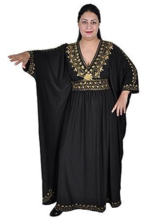 Damen Kaftan im Oriental Style, Einheitsgröße: M bis 3XL (40-58), in Verschiedenen Farben