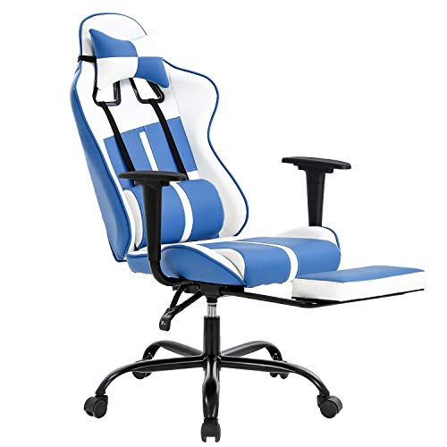 High-Back Office Chair PC Gaming Chair Ergonomic Desk Chair Executive PU Leather Racing Chair Rolling Swivel Computer Chair Lumbar Support for Home&Office