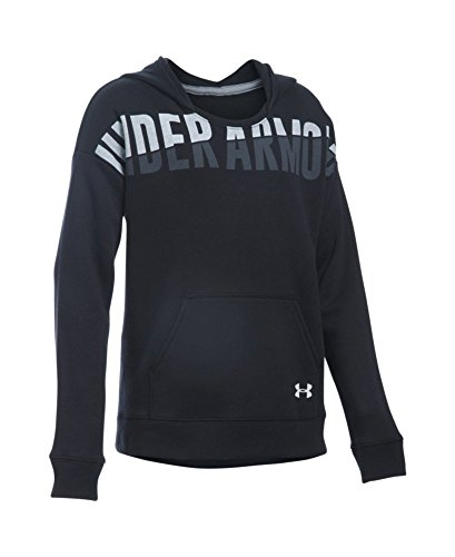 Under Armour Girls' Favorite Fleece Hoodie, Black (001), Youth X-Large