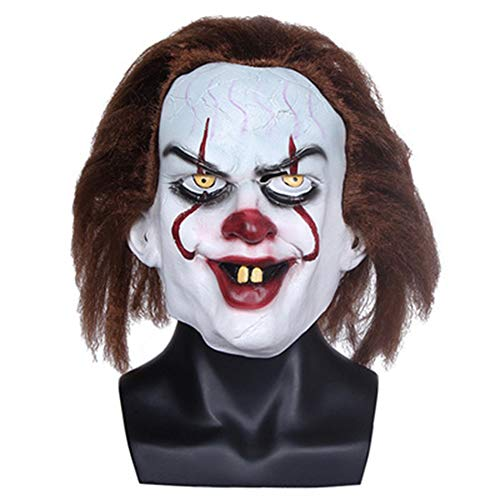 Halloween Scary Clown Mask Joker Cosplay Horror Mask Costume Latex Mask (color1) -