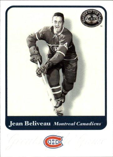 2001 Fleer Greats of the Game Hockey Card (2001-02) #3 Jean Beliveau