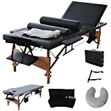 "Product review for 3 Fold 84""L Portable Massage Table Facial Bed W/2 Bolster+Sheet+Cradle Cover"