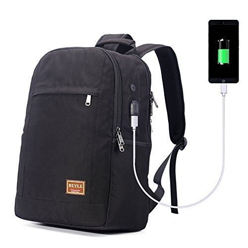 Business Laptop Backpack,Beyle Large Travel College Durable Backpacks for Men Women with USB Charging Port Fits 17 Inch Computer Slim Outdoor Waterproof Lightweight Bags School Notebook Daypack, (Sharp Notebook Computers)