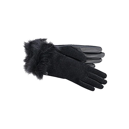 UGG Women's Classic Leather Smart Glove Black Small by UGG