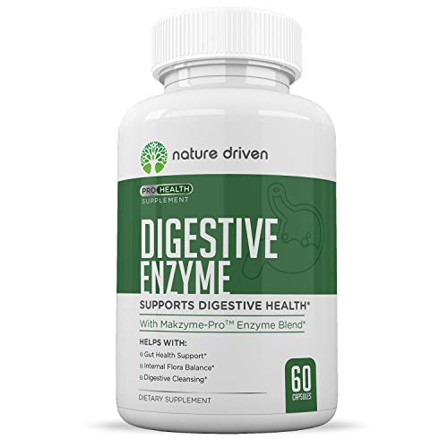 Digestive Enzymes Plus Probiotics Supplement - Helps with Digestion, Bloating, Gas and IBS - 100% All Natural and Non GMO - 60 Veggie Caps