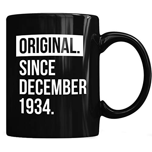 - 1934 December 83 years old birthday Mug, Birthday Mug Coffee Mug 11oz & 15oz Gift Black Tea Cups